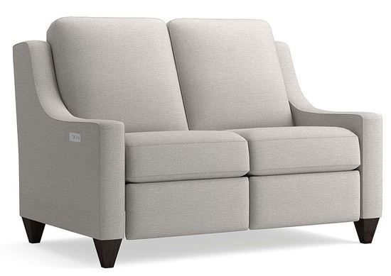 Magnificent Motion Loveseat (M000-42M) in a Casual Boucle Texture Gray fabric