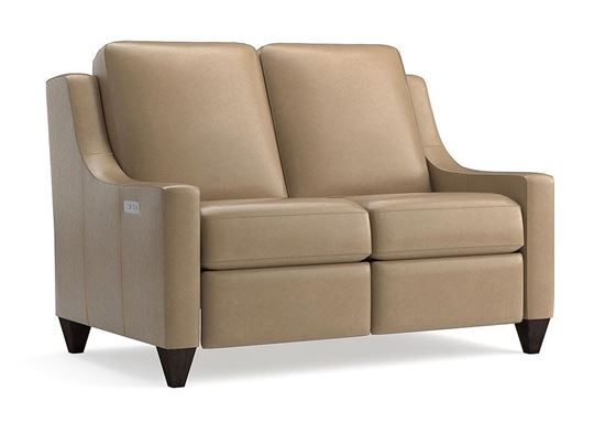Magnificent Motion Reclining Leather Loveseat (M000-42ML) in a Sterling Sable Leather