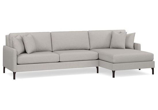 Modern - Serafina 2-Piece Right Chaise Sectional 2658-RCSECT