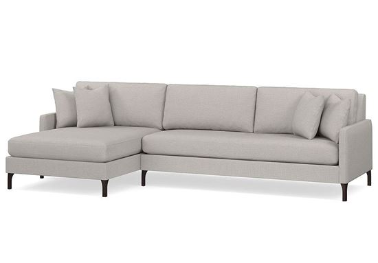 Modern - Serafina Left Chaise Sectional (2658-LCSECTB)