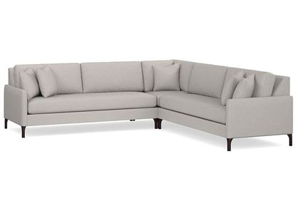 Modern - Serafina L-Shaped Sectional (2658-LSECTBL)