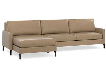 MODERN - Serafina Left Chaise Leather Sectional 2658-LCSECTLL