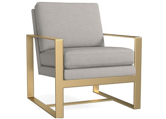 Modern - Lela Accent Chair (1189-02) with Brass arms