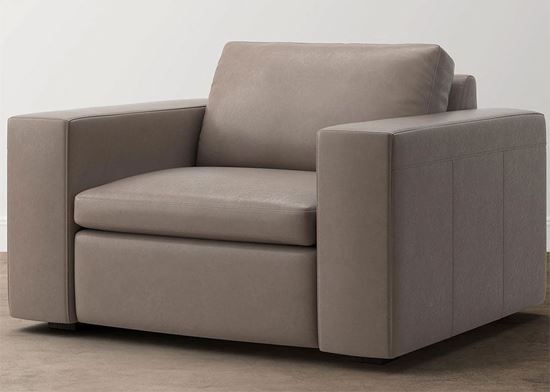 Modern - Melina Leather Chair (3965-18S) in a Melina Slate leather