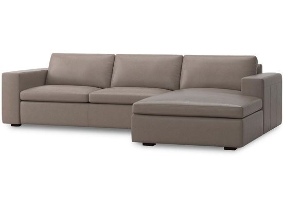 MODERN - Melina Right Chaise Sectional (3965-RCSECTS)in a Melina Slate leather