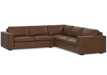MODERN - Melina L-Shaped Sectional (3965-LSECTLB) in a Melina Bark leather