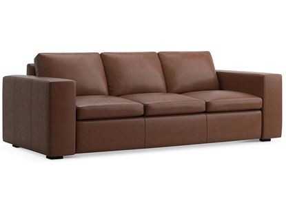MODERN - Melina Sofa (3965-62B) in a Melina Bark leather