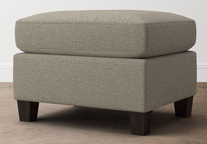 Spencer Ottoman (2714-01) in a Texture Dove fabric