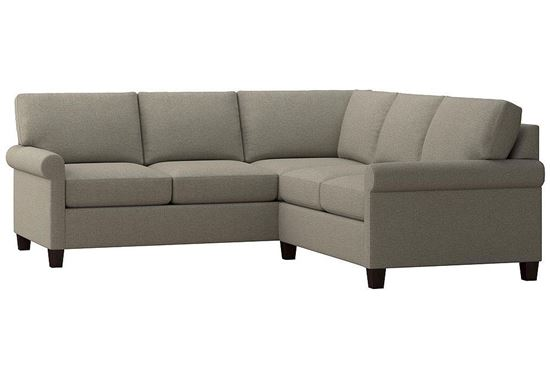 Spencer Small L-Shaped Sectional (2714-LSECTSFC15) in a Seamist fabric
