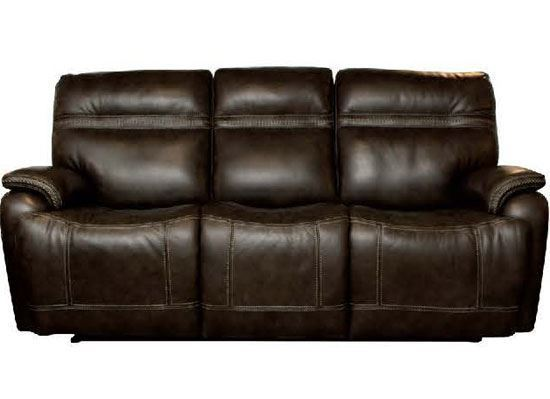 Grant Motion Power Sofa (3737-P62) in a Truffle leather