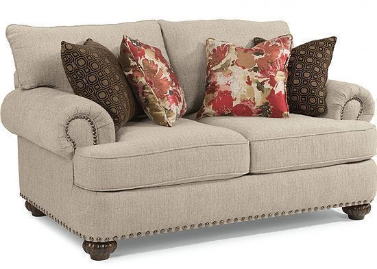 Patterson Loveseat with Nailhead Trim (7322-20)