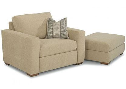 Collins Chair (7107-10) and Ottoman