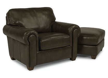 Carson Leather Chair (B3937-10) with Ottoman