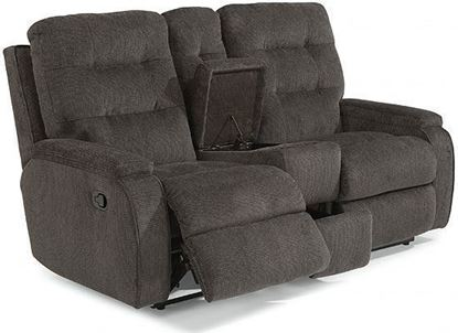 Kerrie Reclining Loveseat with Console (2806-601)