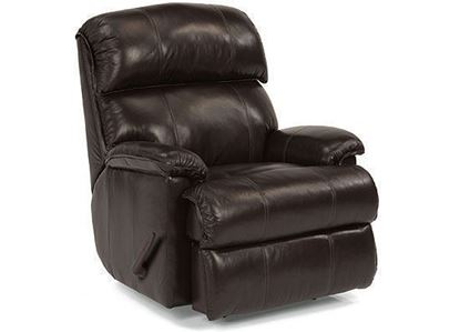 Geneva Leather Swivel Gliding Recliner (3012-530)