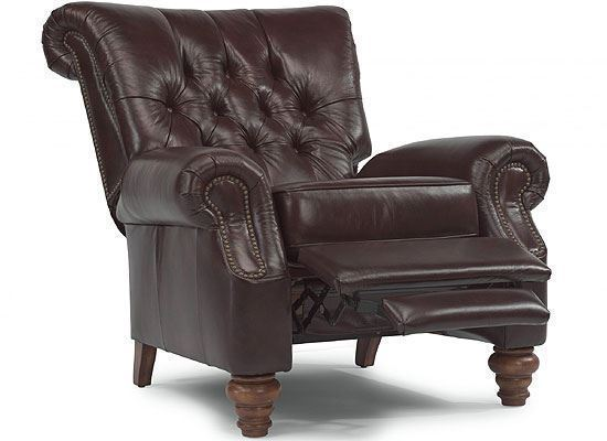 Equestrian Leather Hi-Leg Recliner (301R-503)