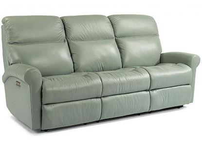 Davis Leather Reclining Sofa (3902-62)