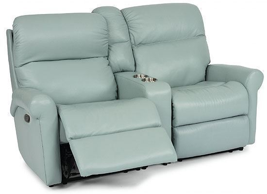 Davis Reclining Leather Loveseat with Console (3902-601)