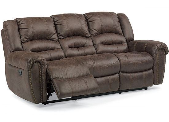 Town Leather Reclining Sofa with Power Headrest (1010-62PH)