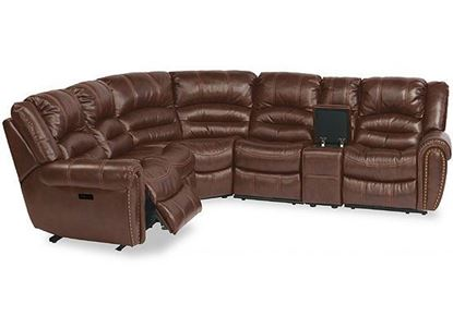 Town Leather Reclining Sectional with Power Headrest (1010-SECTPH)