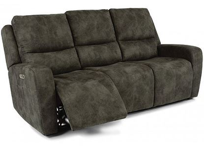 Aiden Reclining Sofa with Power Headrest (1039-62PH)