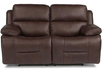 Apollo Reclining Leather Loveseat with Power Headrest (91849-60PH)