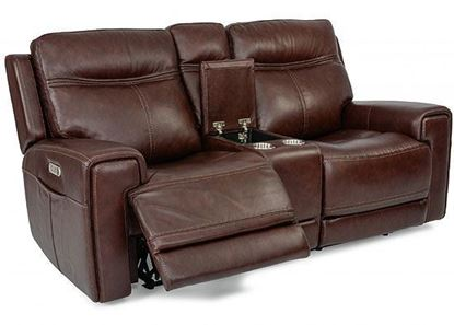 Bravo Reclining Loveseat with Console (180-64PH)