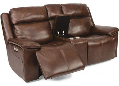 Chance Reclining Loveseat with Console (1187-64PH)
