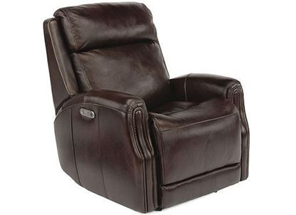 Stanley Power Gliding Leather Recliner with Power Headrests (1897-54PH)