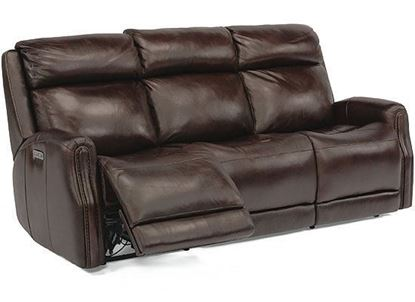 Stanley Reclining Leather Sofa with Power Headrests (1897-62PH)