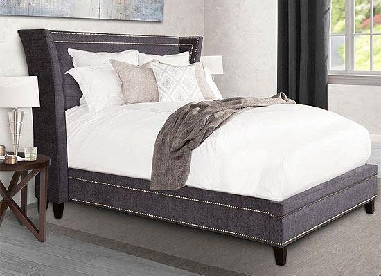 LEAH - Granite Upholstered Bed (BLEA-GNT-COL) by Parker House furniture