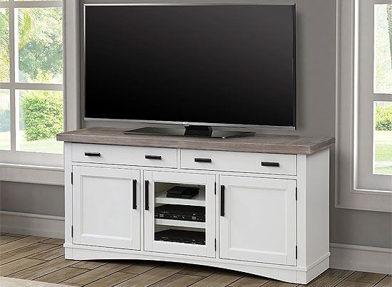 """Americana Modern - Cotton 63"""" TV Console by Parker House furniture"""