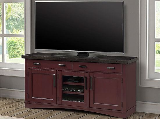 """Americana Modern - Cranberry 63"""" TV Console by Parker House furniture"""