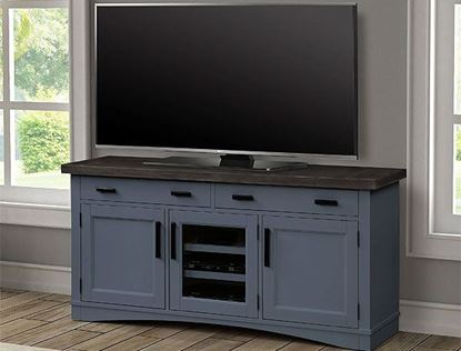 "Americana Modern Denim 63"" TV Console by Parker House furniture"