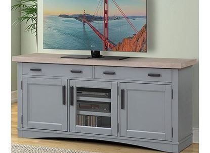 """Americana Modern - Dove 63"""" TV Console (AME#63-DOV) by Parker House furniture"""