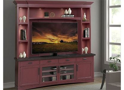 Americana Modern - Cranberry Entertainment Wall AME#92-4-CRAN by Parker House furniture