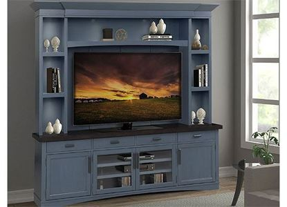 American Modern - Denim Entertainment Wall AME#92-4-DEN by Parker House furniture