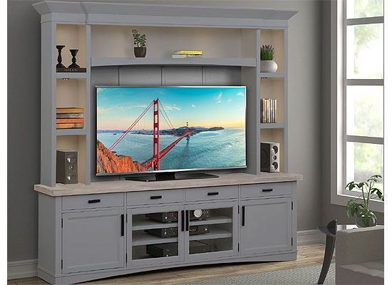 Americana Modern Dove Entertainment Wall AME#92-4-DOV by Parker House furniture