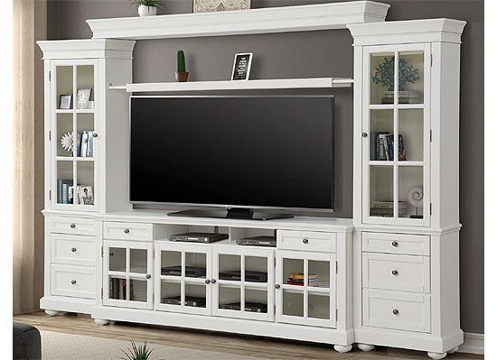 "CAPE COD 4 piece 76"" Entertainment Wall (CAP#176-3) by Parker House furniture"