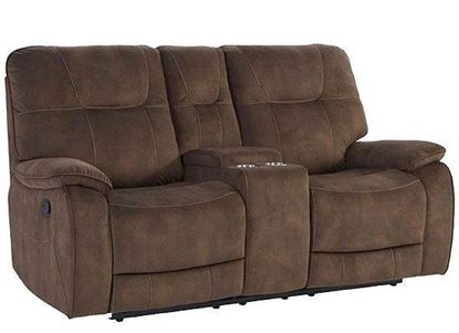 COOPER - SHADOW BROWN Manual Console Loveseat MCOO#822C-SBR