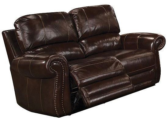 Thurston Shadow Leather Loveseat MTHU#822P-SH by Parker House furniture