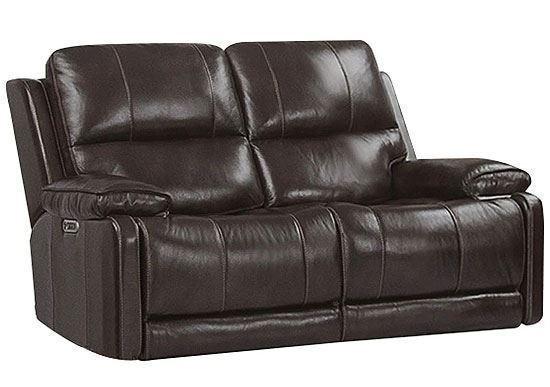 THOMPSON - HAVANA Power Loveseat MTHO#822PH-HA by Parker House furniture