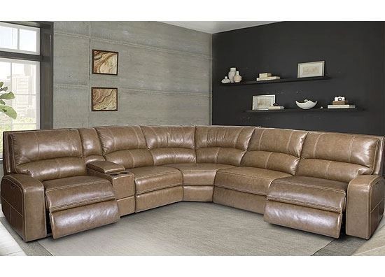 SWIFT Power Reclining Sectional - Bourbon by Parker House furniture