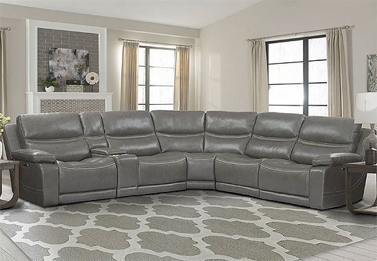 PALMER - GREIGE 6pc Sectional (MPAL-PACKA(HL)-GRG) by Parker House furniture
