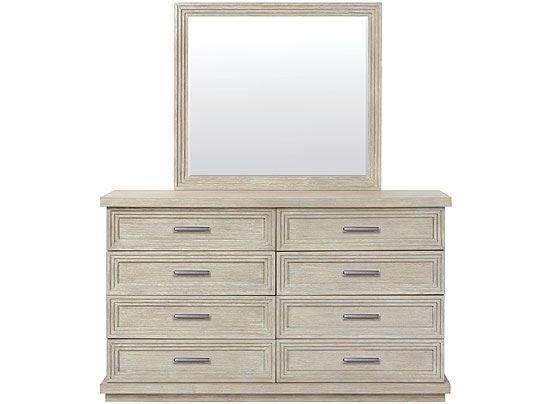Cascade Eight Drawer Dresser - 73460 with Mirror by Riverside furniture