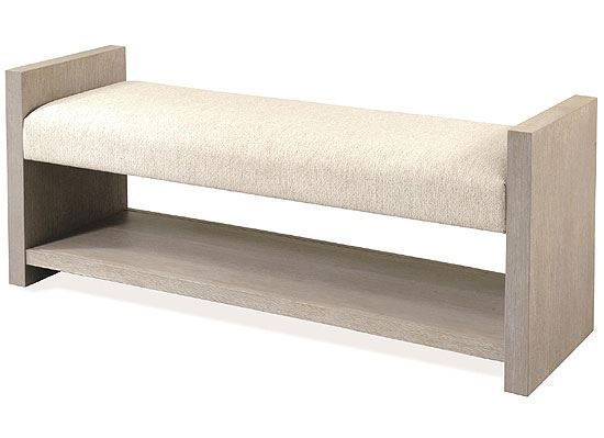 Cascade Upholstered Bed Bench 73467 by Riverside furniture