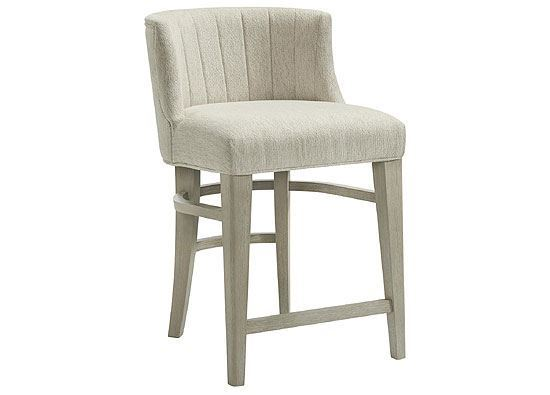 Cascade Upholstered Curved Back Counter Stool 73455 by Riverside furniture
