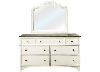 Grand Haven Dresser 17260 with Mirror by Riverside furniture