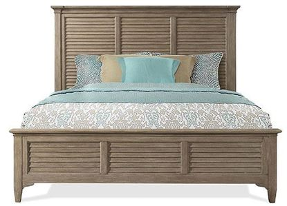Myra Louver Bed (59470-59480) with Natural finish by Riverside furniture