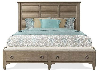 Myra Queen Louver Storage Bed (59470-59475-59473) by Riverside furniture